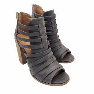 REPORT   Brixa Strappy Ankle Boots   Gray   Sz 7.5